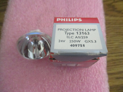 ELC A1//259 250W 24V New Old Stock /< Philips Model: 13163 Projection Lamp