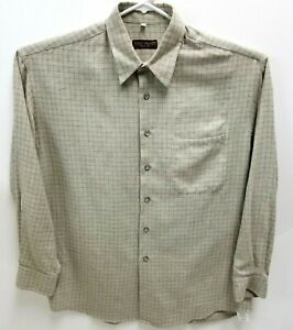 Robert-Barakett-Mens-L-Long-Sleeve-Button-Front-Shirt-Made-In-Italy