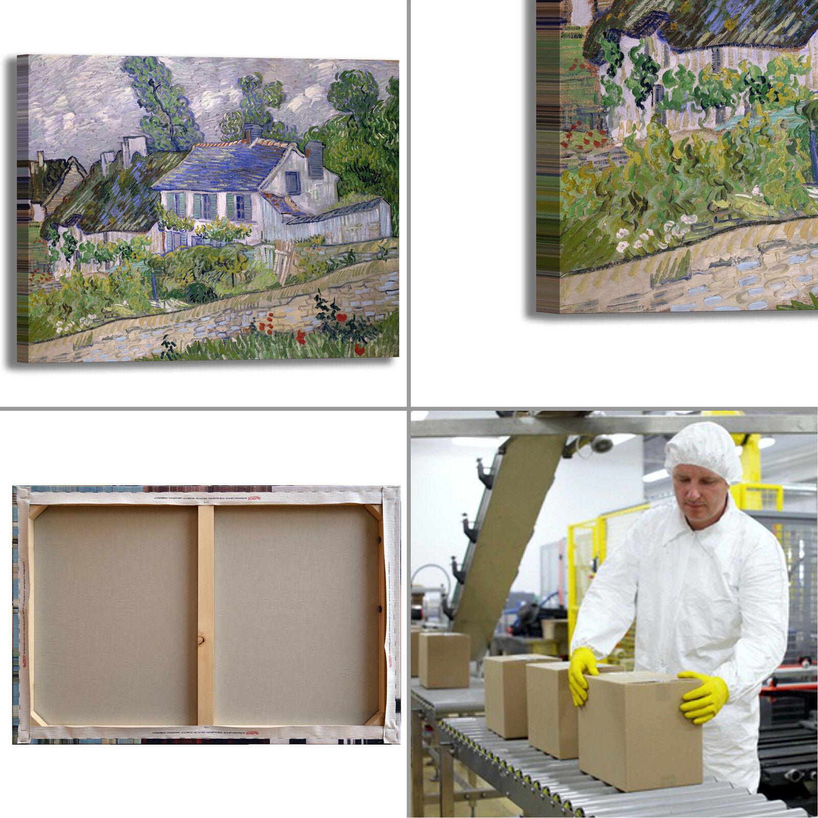 Van Gogh casa ad Anversa design quadro stampa dipinto tela dipinto stampa telaio arRouge o casa 2f474d