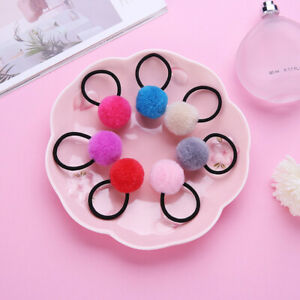 7Pcs-Kids-Girl-Elastic-Rope-Hair-Ties-Ponytail-Holder-Head-Pompom-Band-Hairbands
