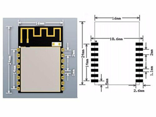 5pcs ESP8266 ESP-12 ESP12 SYDNEY 5x ESP-12S AiThinker WiFi Module Arduino