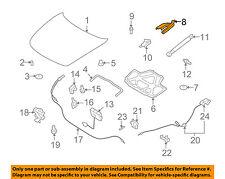Infiniti NISSAN OEM 09-13 G37 Hood-Hinge Left 65401JK00A