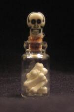 Dollhouse Miniature  Halloween Jar of Bones - Artist Made
