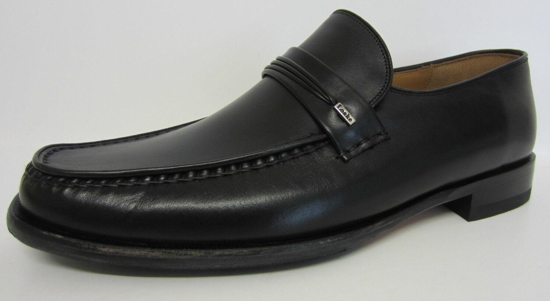 Loake Mens Palermo 2 Black Leather Moccasin Shoe G Fit (MR)