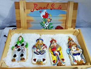 Polonaise-Royal-Suite-Cards-Alice-in-Wonderland-Wood-Crate-GP552-NEW-Set-of-4