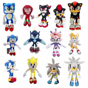 Knuckles Tails Amy Rose Blaze The Cat Super Sonic Plush Doll Stuffed Toys Gift Ebay