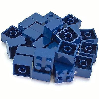 25 Lego Blue Bricks 1 x 2 1x2 Brick Lot