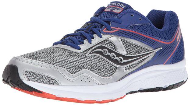 e07515fe Saucony Men's Silver Blue Grid Cohesion 10 Running Runners Shoe Sneaker NIB
