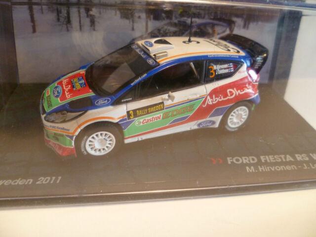 FORD FIESTA RS WRC M. HIRVONEN RALLY SUECIA 2011 altaya ixo 1/43