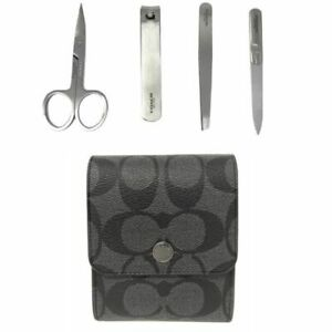 Coach-Men-s-Grooming-Kit-Black-Signature-Nail-Clippers-Tweezers-F25433-95