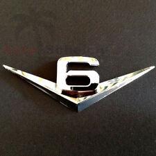 V6 Emblem Zeichen Chrom Schriftzug Auto Aufkleber Motorhaube Kotflügel Logo 3D
