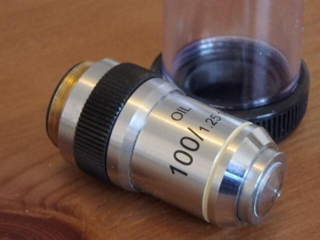 Unused Cased DIN Microscope objective 100//1.25 Oil 160//0.17