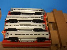 4 Postwar 1950s Lionel Train Passenger Car Set 2531 2532 2533 & 2534 with Boxes