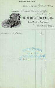 CALIGRAPH No.2 TYPEWRITER LETTERHEAD Antique Schreibmaschine Machine a Ecrire