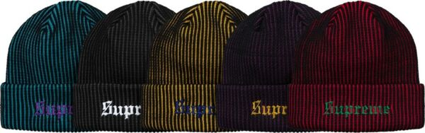 f18d1b143b2 SUPREME 2-Tone Rib Beanie Teal Purple Black Mustard box logo camp ...