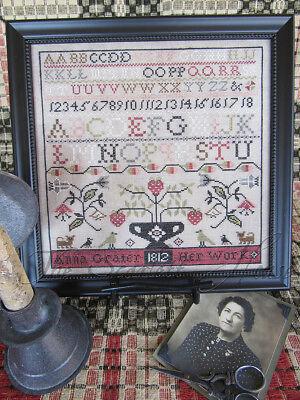 Margaret Lillie 1812 Sampler Scarlett House Cross Stitch Pattern
