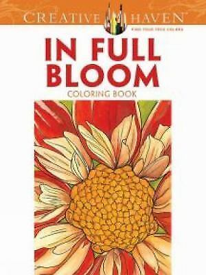 1 of 1 creative haven in full bloom coloring book creative haven coloring books - Creative Haven Coloring Books