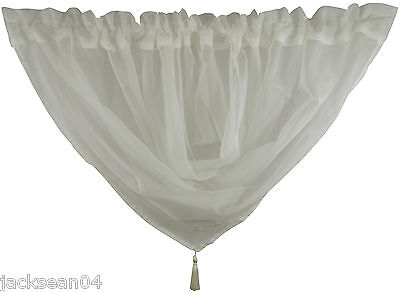 VOILE SWAG SWAGS TASSELED CURTAIN* ****21 COLOURS*****