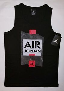 9950a37f1ac Nike Air Jordan Boys Jumpman T-Shirt Tank Top Tee Size Large | eBay