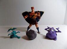 Disney Rock Hurling Hercules w Rock/Boulder + Pain & Panic Mail Order Toy Figure