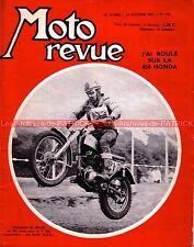 MOTO REVUE 1760 HONDA CB 450 Twin Les pilotes HONDA GP du JAPON Les 6 jpurs 1965