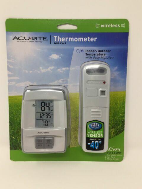 Acurite Wireless Digital Indoor Outdoor Thermometer 00782w3 W 606tx Sensor For Sale Online Ebay
