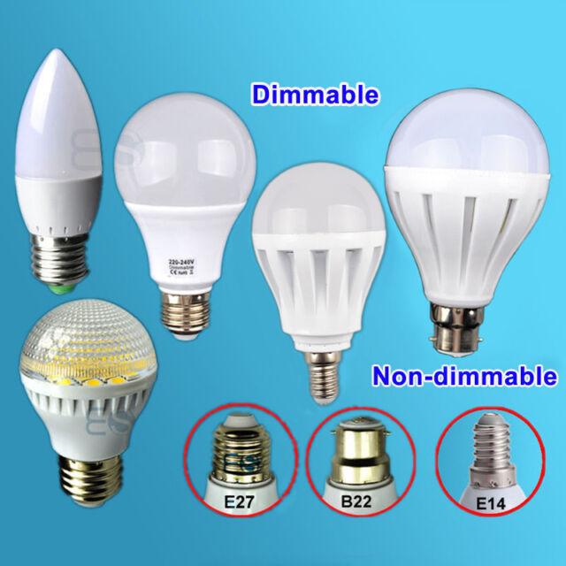 3W 4W 5W 7W 9W 12W 15W B22 E27 E14 LED SMD Globe Candle Golf Light Bulbs Lamp