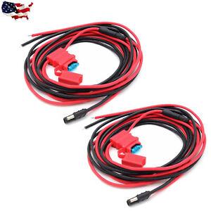 QTY-2-Power-Cable-Motorola-Mobile-HKN4137-PM400-CM200-CM300-CDM750-CDM1250-M1225
