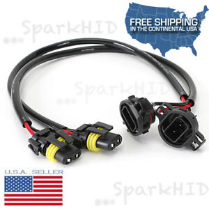 image is loading 5202-h16-9009-hid-wire-harness-ballast-to-