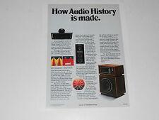 Altec Model 14 Speaker Ad, Mantaray Horn Info, 1 page, 1975