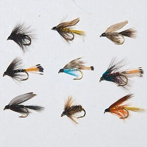 Wet Fishing Flies Choice of sizes available 6 Snipe and Purple Trout Flies