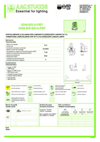 Crack Resistant T140 Tombstone Lampholders for T8-T12 Fluorescent Linear Lamps