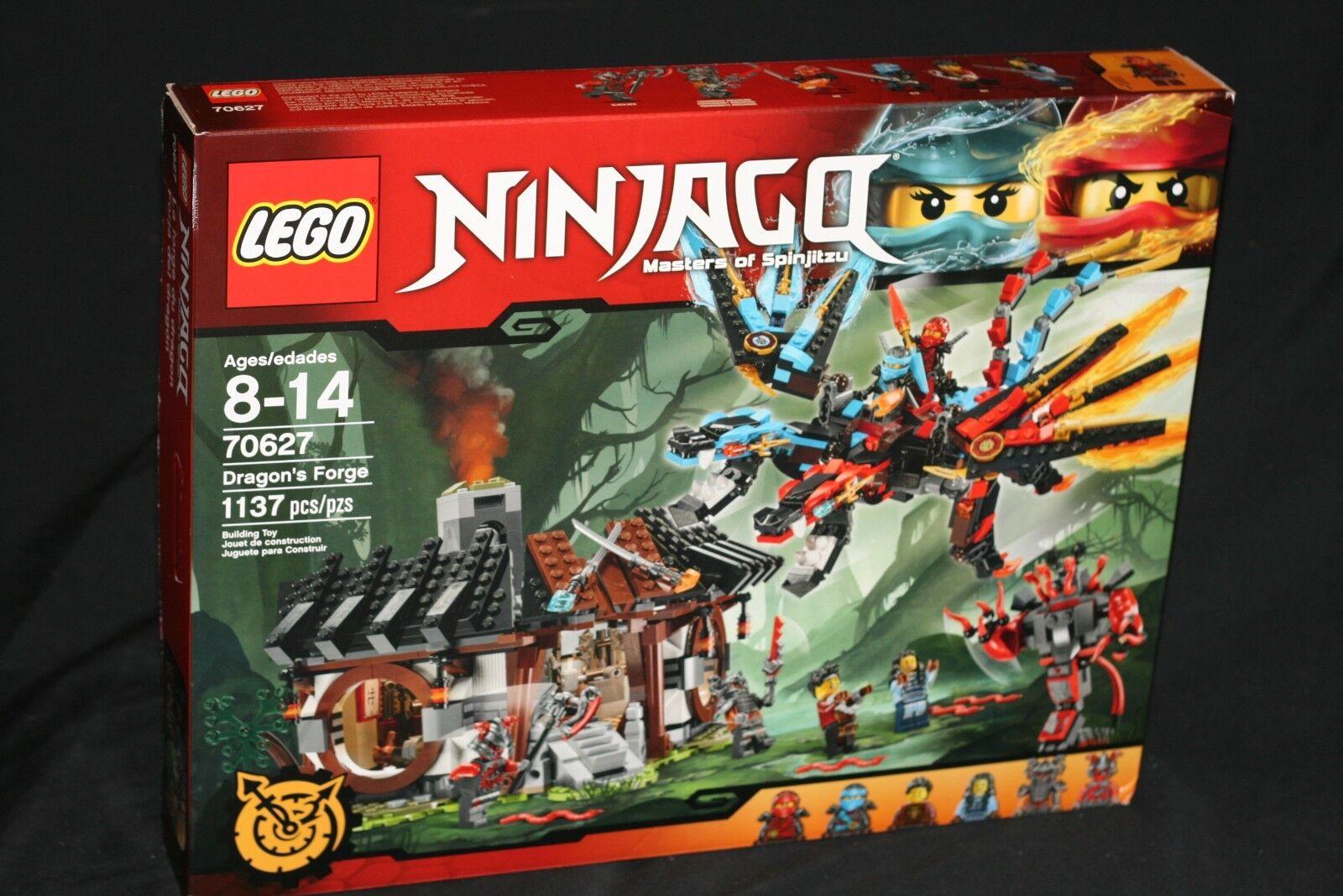 LEGO NINJAGO 70627 DRAGON'S FORGE (2017) RETIRED NEW & SEALED HTF 6 MINIFIGURES
