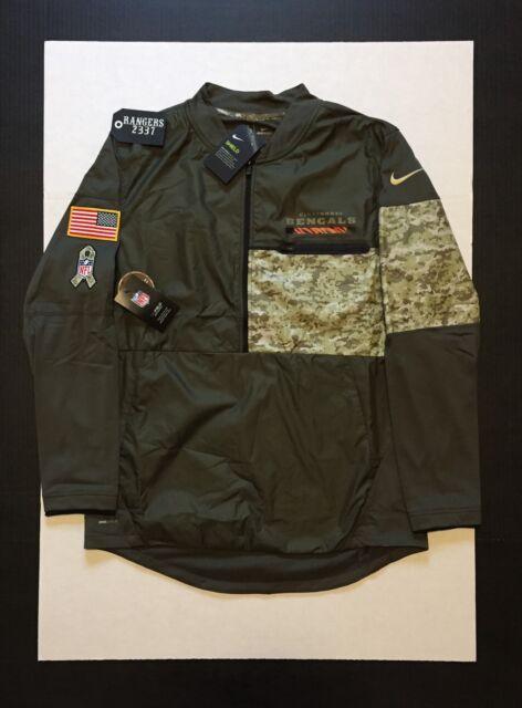 ec9c81d2c Nike Limited 2017 NFL Salute to Service Cincinnati Bengals Hybrid Jacket Sz  M