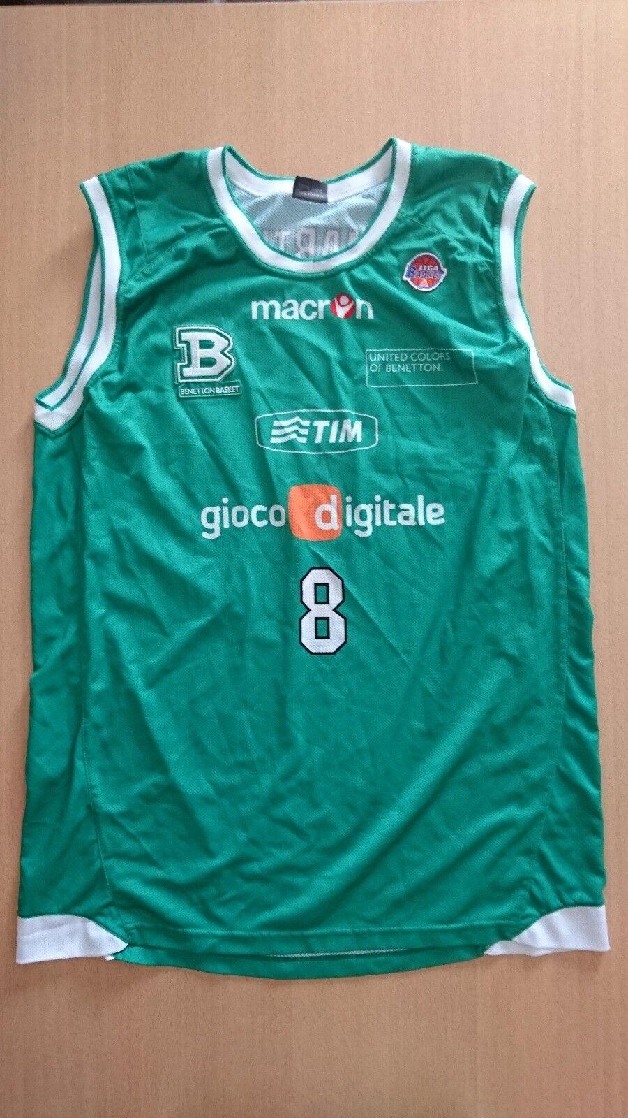 Baloncesto basketball jersey canotta Cartier Martin Benetton Treviso match worn