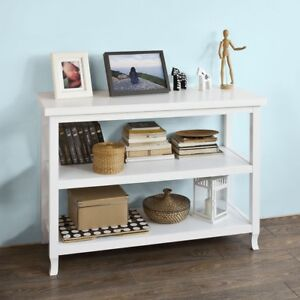 Detalles de SoBuy Mesa de consola Mesa auxiliar Aparador Mueble de cocina  Blanco FSB06-W,ES