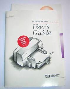 Hp deskjet 540 manuals.