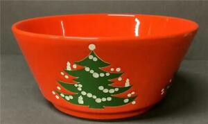 Waechtersbach Christmas Tree LARGE ROUND SERVING BOWL red green Vegetable