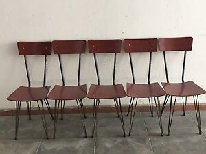 Sedie Vintage Anni 50 : Vintage chairs 50 s sedie vintage in formica e ferro anni 50 ebay