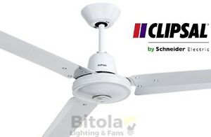 New clipsal airflow 48 metal 3 blade ceiling fan white 1200mm image is loading new clipsal airflow 48 034 metal 3 blade aloadofball Gallery