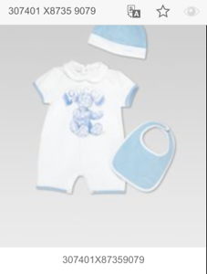 hot sale online hot sale online classic fit Details about NWT NEW Gucci baby boys blue white 3pc set romper bib beanie  9/12m 12/18m 307401
