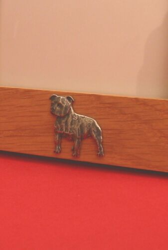 Staffordshire Bull Terrier Motif Real Oak 6 x 4 Picture Photo Frame Portrait