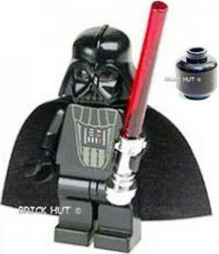 GIFT LEGO STAR WARS 2007 NEW BLACK HEAD DARTH VADER W// MATT HILT FIGURE