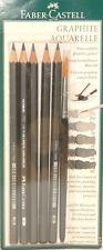 Faber-Castell Graphite Aquarelle Watersoluble Pencil Set w/ Brush FC117897