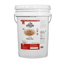 Augason Farms Emergency Survival Food Long Grain Brown Rice 42 lb Pail   NEW