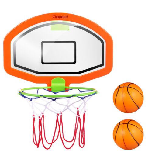 Mini Basketball Hoop System Kids Goal Over The Door Indoor Sports w// Balls USA