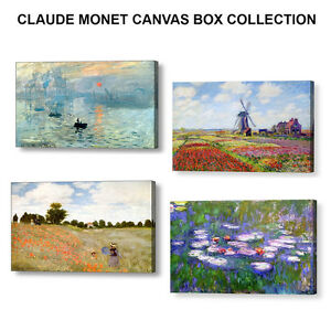 CLAUDE-MONET-CANVAS-BOX-COLLECTION-4-X-12-034-x-8-034-Canvases