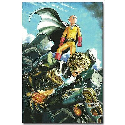 "One Punch Man Japan Anime Silk Poster Print 13x20 24x36/"" SAITIMA Genos 014"