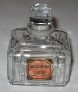 """Vintage Caron Bellodgia Perfume Bottle 2 Oz - #3 High Quality Materials Baccarat Numbered 3"""" Ht"""
