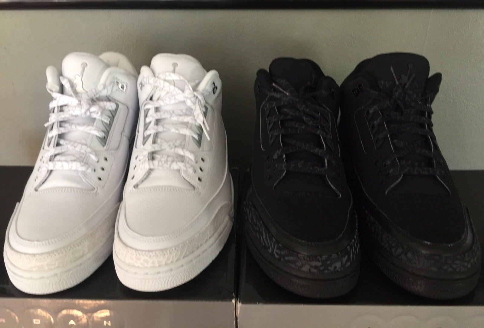 2007 Nike Air Jordan III Retro Black Cat & Pure   Money Size 13 DS
